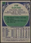 1975 Topps #297  Jim Eakins  Back Thumbnail