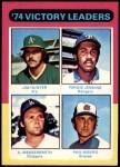 1975 Topps Mini #310   -  Catfish Hunter / Ferguson Fergie Jenkins / Andy Messersmith / Phil Niekro  Pitching Leaders Front Thumbnail