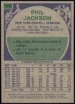 1975 Topps #111  Phil Jackson  Back Thumbnail