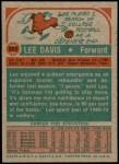 1973 Topps #253  Lee Davis  Back Thumbnail