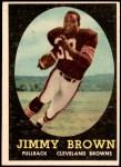 1958 Topps #62  Jim Brown  Front Thumbnail