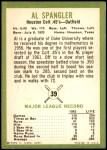 1963 Fleer #39  Al Spangler  Back Thumbnail