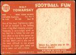 1958 Topps #101  Walt Yowarsky  Back Thumbnail