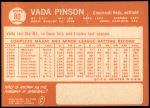 1964 Topps #80  Vada Pinson  Back Thumbnail
