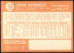 1964 Topps #203  John Kennedy  Back Thumbnail