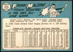 1965 Topps #315  Frank Malzone  Back Thumbnail