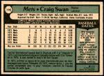 1979 O-Pee-Chee #170  Craig Swan  Back Thumbnail