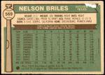 1976 O-Pee-Chee #569  Nelson Briles  Back Thumbnail