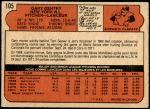 1972 O-Pee-Chee #105  Gary Gentry  Back Thumbnail
