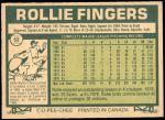 1977 O-Pee-Chee #52  Rollie Fingers  Back Thumbnail