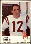 1961 Fleer #59  John Brodie  Front Thumbnail
