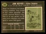 1969 Topps #253  Jim Keyes  Back Thumbnail