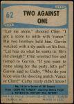 1956 Elvis Presley #62   Two Against One Back Thumbnail