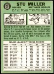 1967 Topps #345  Stu Miller  Back Thumbnail
