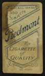 1909 T206 THR Jack Pfiester  Back Thumbnail