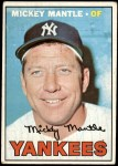 1967 Topps #150  Mickey Mantle  Front Thumbnail