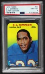 1970 Topps Super Glossy #22  O.J. Simpson  Front Thumbnail