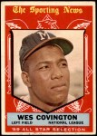 1959 Topps #565   -  Wes Covington All-Star Front Thumbnail