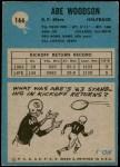 1964 Philadelphia #166  Abe Woodson   Back Thumbnail