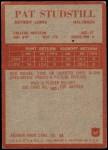 1965 Philadelphia #67  Pat Studstill    Back Thumbnail