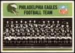 1965 Philadelphia #127   Eagles Team Front Thumbnail