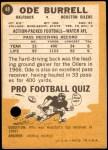 1967 Topps #48  Ode Burrell  Back Thumbnail