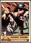 1976 Topps #422  Johnny Grubb  Front Thumbnail