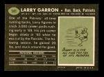 1969 Topps #141  Larry Garron  Back Thumbnail