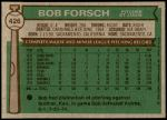 1976 Topps #426  Bob Forsch  Back Thumbnail