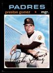 1971 Topps #737  Preston Gomez  Front Thumbnail