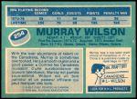 1976 O-Pee-Chee NHL #254  Murray Wilson  Back Thumbnail
