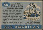 1955 Topps #56  Ernie Nevers    Back Thumbnail