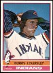 1976 Topps #98  Dennis Eckersley  Front Thumbnail