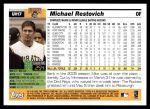 2005 Topps Update #17  Michael Restovich  Back Thumbnail