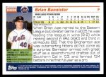 2005 Topps Update #238  Brian Bannister   Back Thumbnail