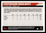 2006 Topps Update #197   -  Albert Pujols / Jim Edmonds / Scott Rolen Postseason Highlights Back Thumbnail