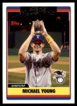 2006 Topps Update #252   -  Michael Young All-Star Front Thumbnail