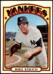 1972 Topps #138  Mike Kekich  Front Thumbnail