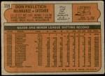 1972 Topps #359  Don Pavletich  Back Thumbnail