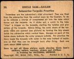 1941 Uncle Sam #58   Submarine Torpedo Practice Back Thumbnail