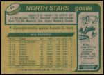 1980 Topps #47  Gilles Meloche  Back Thumbnail