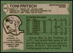 1978 Topps #164  Toni Fritsch  Back Thumbnail