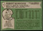 1978 Topps #86  Robert Newhouse  Back Thumbnail