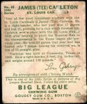 1934 Goudey #48  Tex Carleton  Back Thumbnail