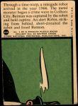 1966 Topps Batman Red Bat #29   Danger From 25th Century Back Thumbnail
