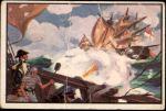 1954 Bowman U.S. Navy Victories #43   USS United States vs. Macedonian Front Thumbnail