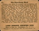 1940 Lone Ranger #11   The Run-Away Herd Back Thumbnail