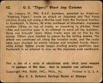 1941 War Gum #42   U.S. Tigers Blast Japanese Column Back Thumbnail