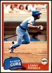 1981 Topps #692  Lenny Randle  Front Thumbnail