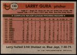 1981 Topps #130  Larry Gura  Back Thumbnail